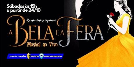 """50% DE DESCONTO: Espetáculo """"A Bela e a Fera"""" no Teatro BTC ingressos"""