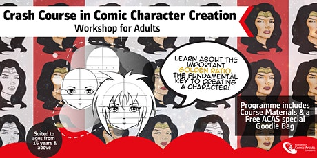 Crash Course in Character Creation Comic Art Workshop tickets