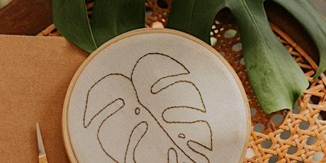 Stap voor stap: borduren / embroidery step by step tickets