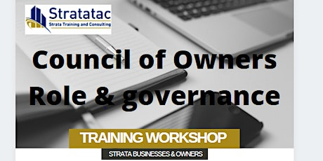 Council of Owners Role and Governance Training Workshop Session 2 tickets