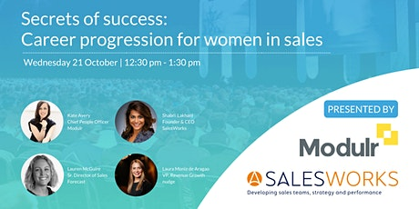 Secrets of success: career progression for women in sales tickets