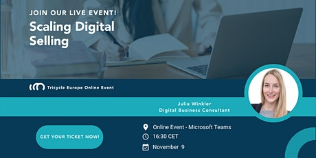Tricycle Scaling Digital Selling Webinar tickets