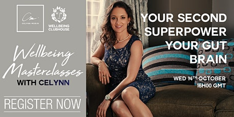 """NOVEMBER #2 Wellbeing Masterclass """"Your Second Superpower - Your GUT"""" tickets"""