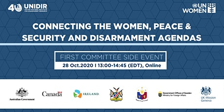 Connecting The Women, Peace & Security And Disarmament Agendas tickets