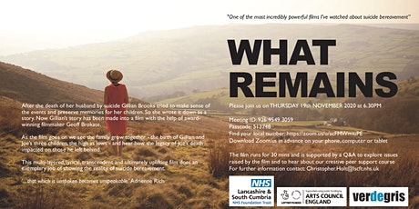What Remains - A film about Suicide Bereavement + Gillian Brooks live Q & A tickets