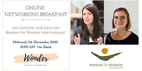 Online Netzwerk Frühstück mit Women for Women International Deutschland Tickets