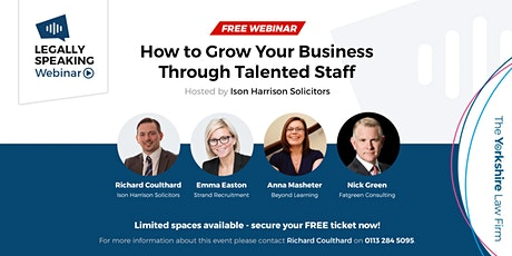 Free Webinar: How to Grow Your Business through Talented Staff tickets