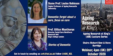 Ageing Research at King's Lecture `Series: Dementia Care tickets