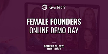 KiwiTech's Female Founders Online Demo Day tickets