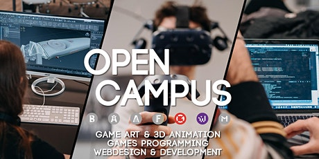 Open Campus: Komm vorbei! #Game Art & 3D Animation # Games Programming #Web tickets