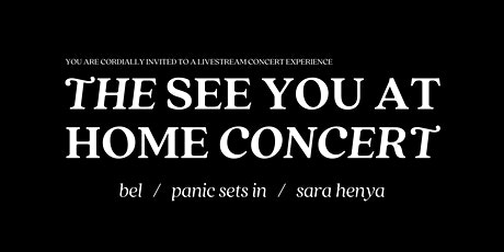 The See You At Home Concert | Presented by Eclectica Division tickets