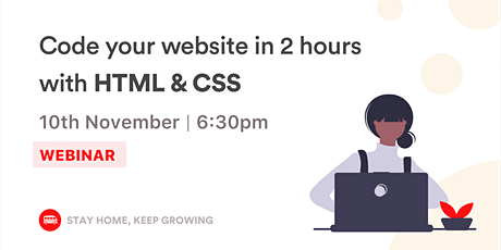 [Webinar] Code your first website with HTML & CSS tickets