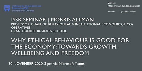 Seminar | Why Ethical Behaviour is Good for the Economy tickets
