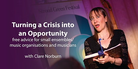 Turning a Crisis into an Opportunity: free advice for small music orgs tickets