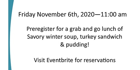 November  LCC Grub & Go tickets