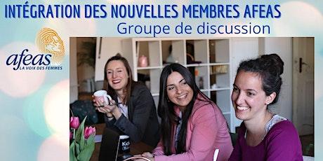 Groupe de discussion sur l'intégration des membres Afeas billets