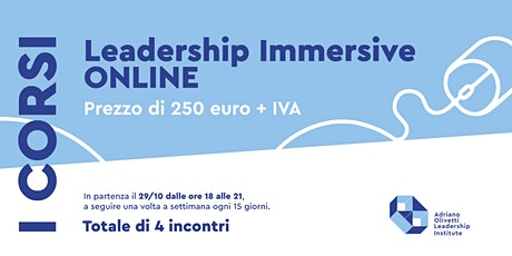 Leadership Immersive Online biglietti