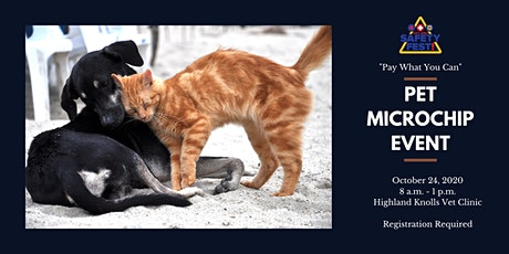 """""""Pay What You Can"""" Pet Microchip Event tickets"""