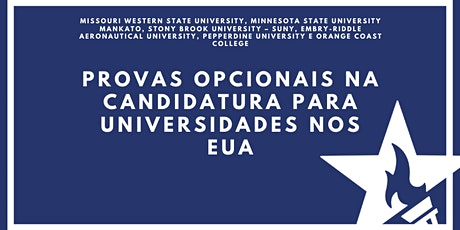 Provas opcionais na candidatura para universidades nos EUA ingressos