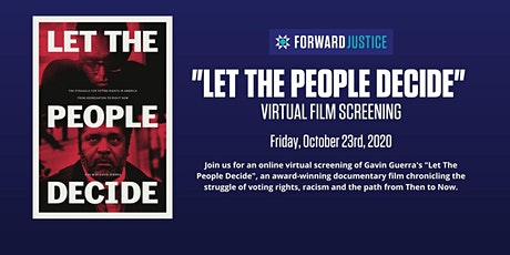 Forward Justice + Duke Rowing 'Let The People Decide' Online Screening tickets
