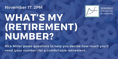 What's my (Retirement) Number? tickets