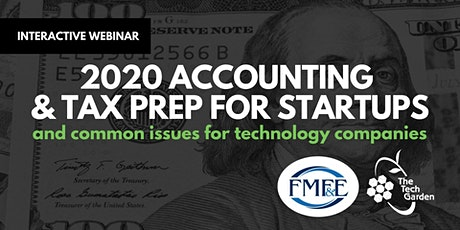 WEBINAR: 2020 Accounting  & Tax Prep for Startups tickets