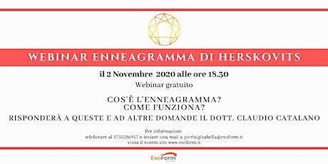 Webinar Gratuito Enneagramma di Herskovits biglietti
