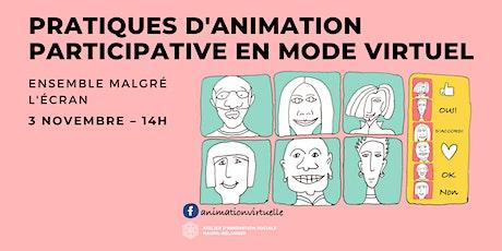 Pratiques d'animation participative en mode virtuel billets