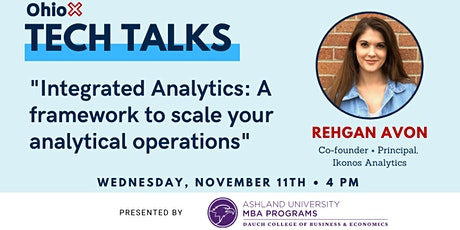 OhioX Tech Talk: Integrated Analytics - Scaling your analytical operations tickets