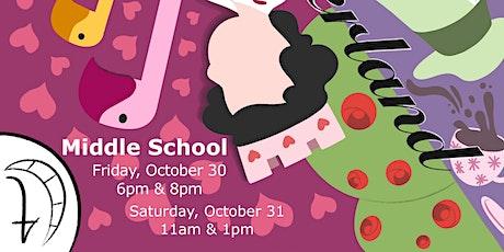 Alice in Wonderland - Middle School tickets