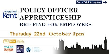 Policy Officer Higher Apprenticeship | Webinar | University of Kent tickets