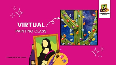 Cactus Lights Virtual Painting Class tickets