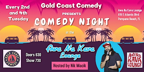 Comedy Night at Awa Na Kava Lounge tickets