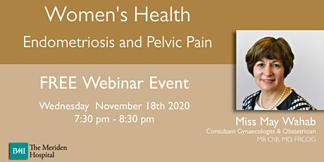 Women's Health - Endometriosis and Pelvic Pain tickets