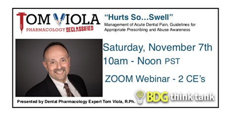 Hurts So...Swell - Management of Acute Dental Pain tickets