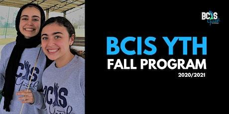 BCISYTH Fall Program 2020 Extended Registration 02 tickets