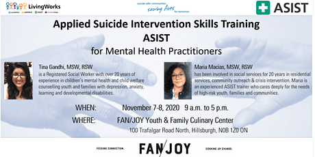 ASIST Suicide Intervention Workshop for Mental Health Practitioners tickets