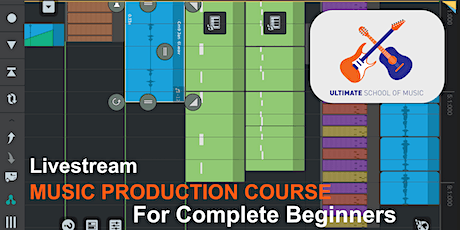 Music Production For Beginners - Livestream Course For Adults tickets
