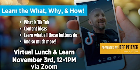 Tik Tok Virtual Lunch and Learn tickets