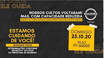 CULTO DOMINGO (25/10) 9h30 ingressos