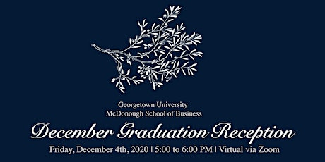 December 2020 Graduation Reception tickets