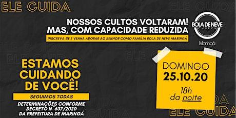 CULTO DOMINGO (25/10) 18h00 ingressos