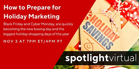 How to Prepare for Holiday Marketing tickets