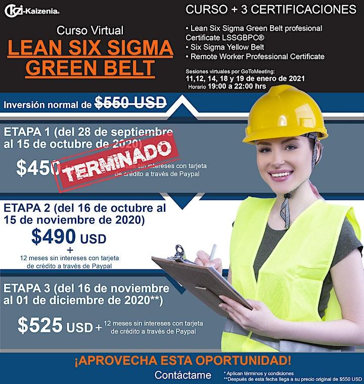 Imagen de Curso virtual Lean Six Sigma Green Belt