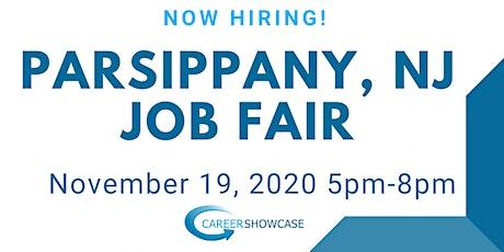 Parsippany, NJ Job Fair November 19, 2020 5pm-8pm tickets