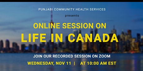 Pre-Arrival Session on Life in Canada: PCHS Information Sessions Series tickets