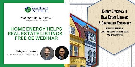 Home Energy Helps Real Estate Listings - Free CE Webinar tickets