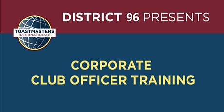 Division J Corporate Club Officer Training tickets