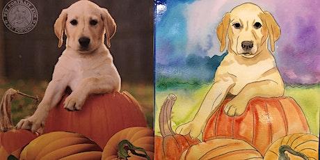 Pups and Pumpkins Paint Party- Pet Portrait Fun Online tickets