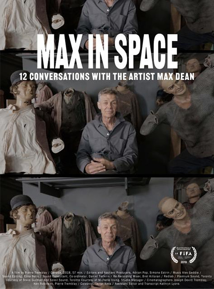 Max In Space – 12 Conversations with the Artist Max Dean - Virtual Premiere image
